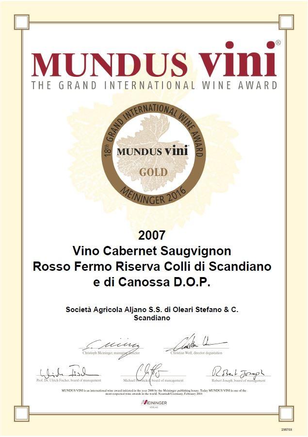 Mundus Vini 2016 - Rio 2007