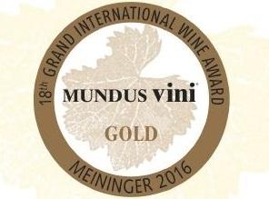 Medaglia d'Oro al Mundus Vini 2016