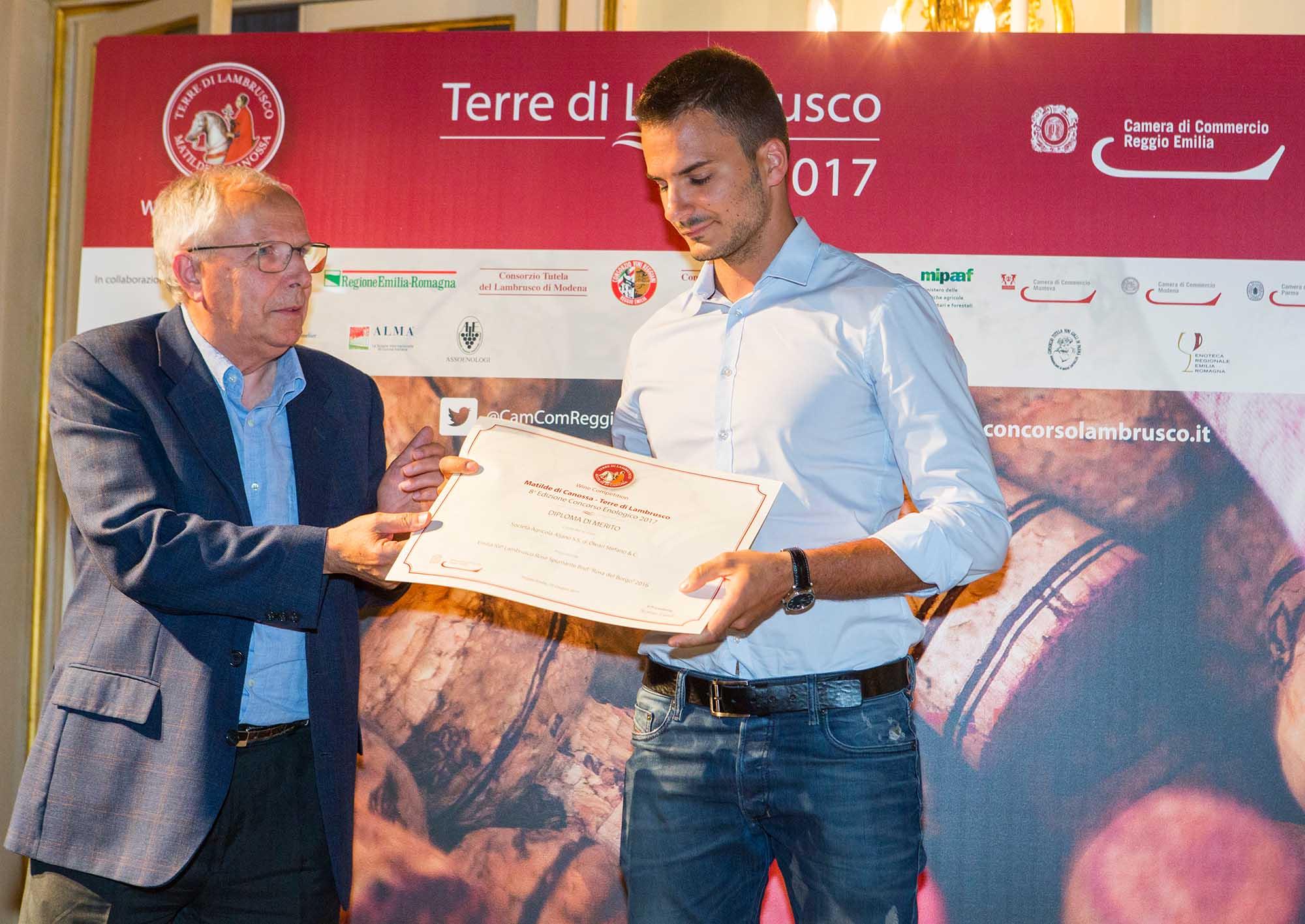 Premiazione1 Rosa del borgo aljano Matilde di Canossa Terre di Lambrusco