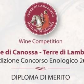 Diploma di Merito al concorso enologico Matilde di Canossa 2017