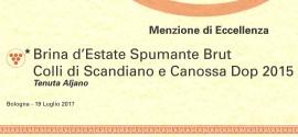 Menzione di Eccellenza to Brina d'Estate at Emilia Romagna da Bere e da Mangiare 2017/18