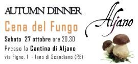 Sabato 27 Ottobre: Cena del Fungo!
